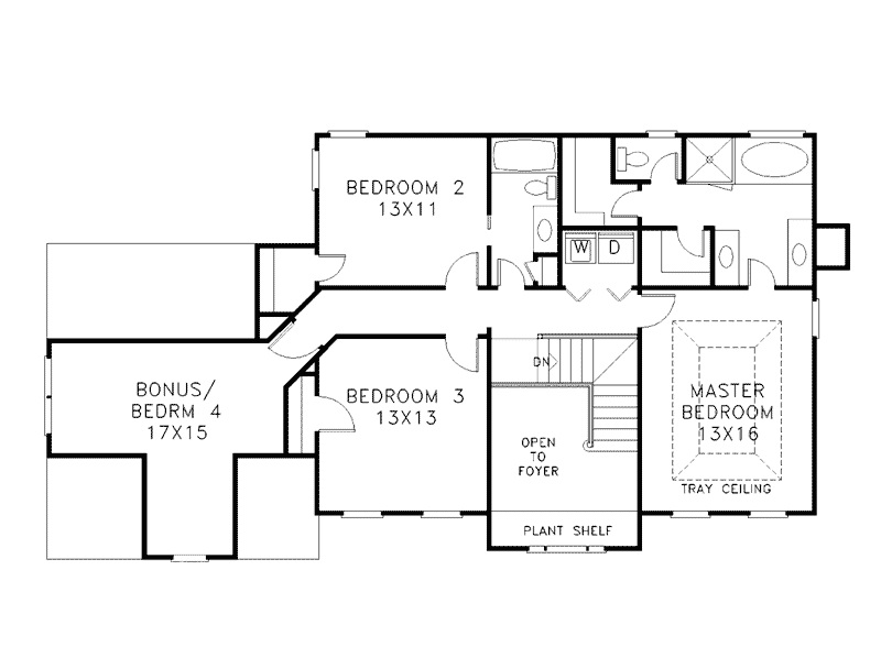 Two story house plans for Second story floor plan